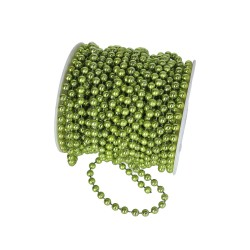 Koraliki na sznurku 6mm/1mb zielone metaliczne