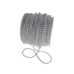 Koraliki na sznurku 4mm/1mb srebrne
