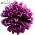 Chryzantema satynowa fiolet - główka kwiatowa 14cm
