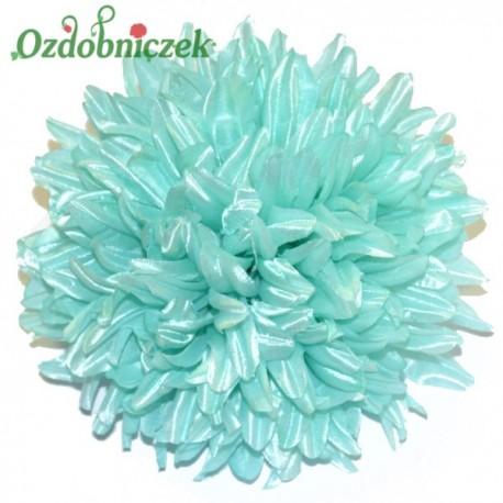 Chryzantema satynowa niebieska - główka kwiatowa 16cm