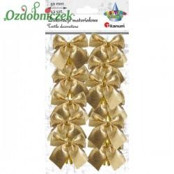 Kokardki złote metalizowane 12szt.