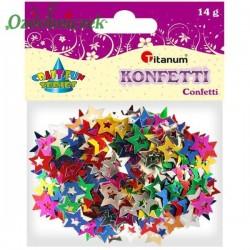 Cekiny konfetti gwiazdki mix koloru 14g