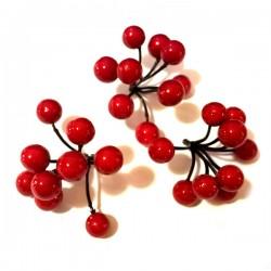 Jagódki kuleczki czerwone 3 pęczki