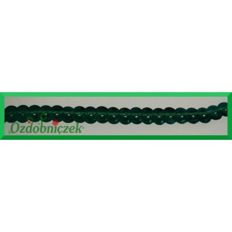 Cekiny na sznurku metaliczne c16 Zielone