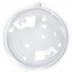 Bombka płaska medalion 11cm plexi przeźroczysty