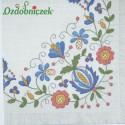 Serwetka do Decoupage motyw serwety jutowej wzór hartowany niebieski 1 szt.