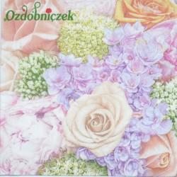 Serwetka do Decoupage róże kwiaty cebuli hiacynty 1 szt.