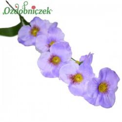 Bratki na gałązce 7 kwiatów 46 cm JASNY FIOLET