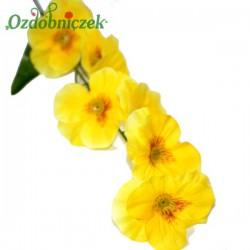 Bratki na gałązce 7 kwiatów 46 cm ŻÓŁTE