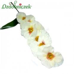 Bratki na gałązce 7 kwiatów 46 cm BIAŁE