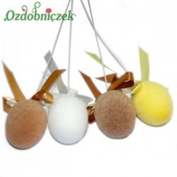 Jajka flokowane na piku 4 szt j.brąz c.brąz żółte białe