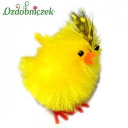 Kurczak Z PIÓRKIEM ozdobny 4,5cm/1szt.