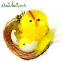 Kura z kurczakiem w gniazdku 3,5 cm 1 szt