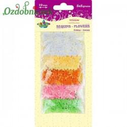 Cekiny kwiatuszki mix 5 kolorów po 5 g