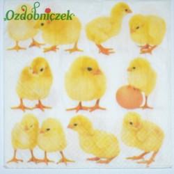 Serwetka do Decoupage żółte kurczaczki pisklaki szt.