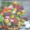 Serwetka do Decoupage kolorowe tulipany 1 szt