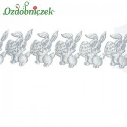 Aplikacje króliczki z jajeczkiem SREBRNY SATYNOWY 0,5mb