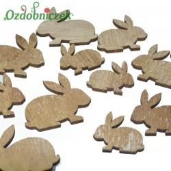 Króliki drewniane naturalne 12 szt MIX ROZMIARÓW