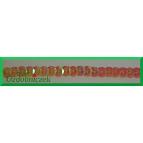 Cekiny na sznurku opalizujące f9 Brzoskwiniowe