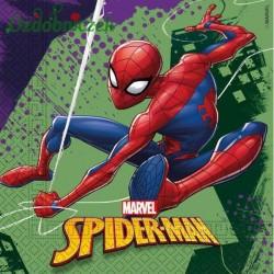 Serwetka do decoupage SPIDER-MAN fioletowo zielony