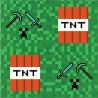 Serwetka do decoupage pixele TNT