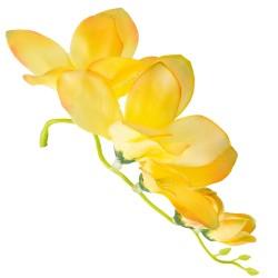 Kwiat frezji bez łodygi 14 cm- 5 kwiatów- ŻÓŁTY