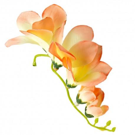 Kwiat frezji bez łodygi 14 cm- 5 kwiatów- BRZOSKWINIOWY