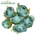PEŁNIK róża bukiecik morska ZIELEŃ 6szt