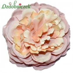 RÓŻA kameliowa wyrobowa PUDROWY RÓŻ - główka kwiatowa