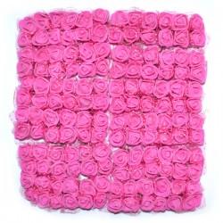 AMARANTOWE różyczki Z PIANKI Z TIULEM 2cm 144 SZT ZESTAW