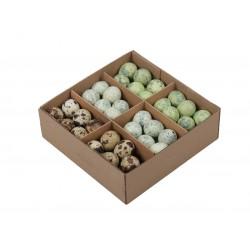 Jajka przepiórcze wydmuszki - zestaw 3 kolorów ( zielone niebieskie naturalne ) pudełko 72szt. wydmuszki