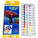 Zestaw farbek akrylowych 12 kolorów po 12ml