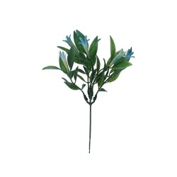 Gałązka zielona z niebiesskimi kwiatuszkami 24 cm