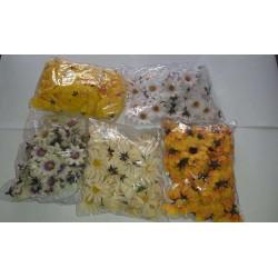 ZESTAW - mix kwiatuszki materiałowe 5 opakowań 300szt.