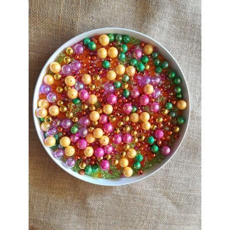 Koraliki dekoracyjne mix koloru mix rozmiaru 250g