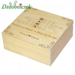 Szkatułka/pudełko z grawerem na Dzień Matki wzór nr 3