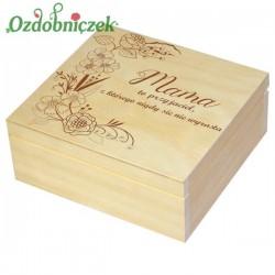 Szkatułka/pudełko z grawerem na Dzień Matki wzór nr 4