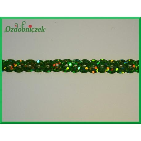 Cekiny na sznurku laserowe Jasny zielony
