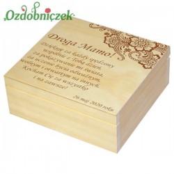 Szkatułka/pudełko z grawerem na Dzień Matki wzór nr 1-LAKIEROWANA