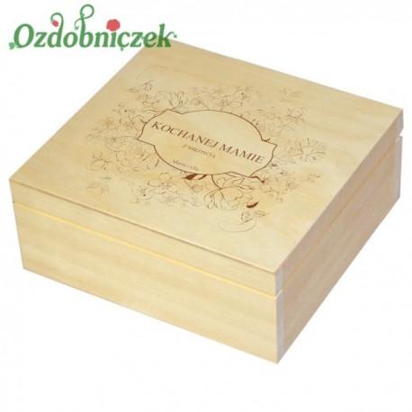 Szkatułka/pudełko z grawerem na Dzień Matki wzór nr 2-LAKIEROWANA