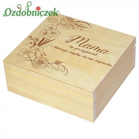 Szkatułka/pudełko z grawerem na Dzień Matki wzór nr 4-LAKIEROWANA