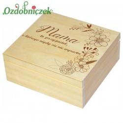 Szkatułka/pudełko z grawerem na Dzień Matki wzór nr 5-LAKIEROWANA