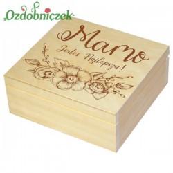 Szkatułka/pudełko z grawerem na Dzień Matki wzór nr 6-LAKIEROWANA