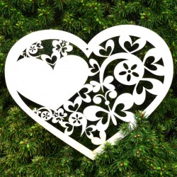 Serce ażurowe - motyle i serca - DLA MAMY, ze sklejki
