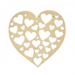Ażurowe serce SERDUSZKA, ze sklejki