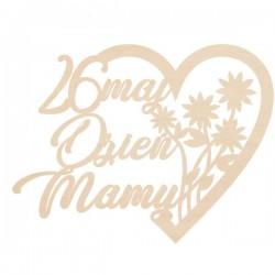 Ażurowe serce na Dzień Matki z kwiatami
