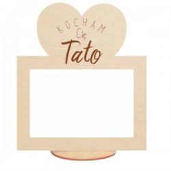 Ramka na zdjęcie z sercem kocham Cię Tato