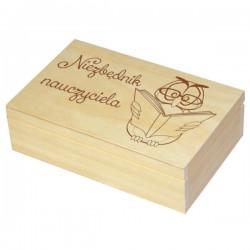 """Grawerowana herbaciarka 6 - """"Podziękowanie dla nauczyciela"""" wzór nr 2"""