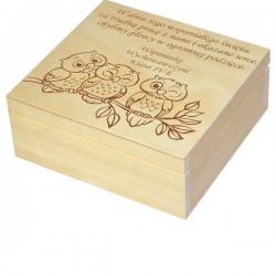 Herbaciarka zestaw prezentowy ze słodkościami dla Nauczyciela personalizowana szkatułka kuferek - zestaw 3, wzór 6