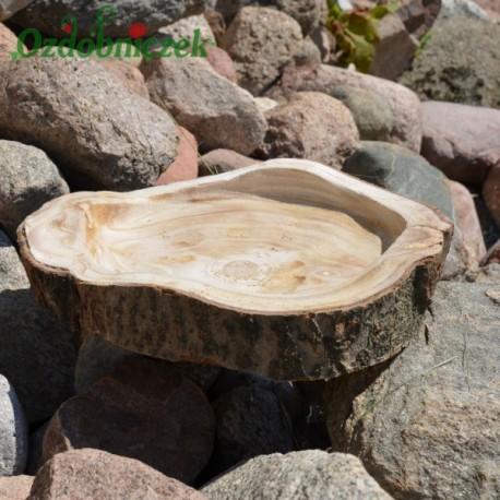 Talerz z korą, misa, taca z drewna 26cm
